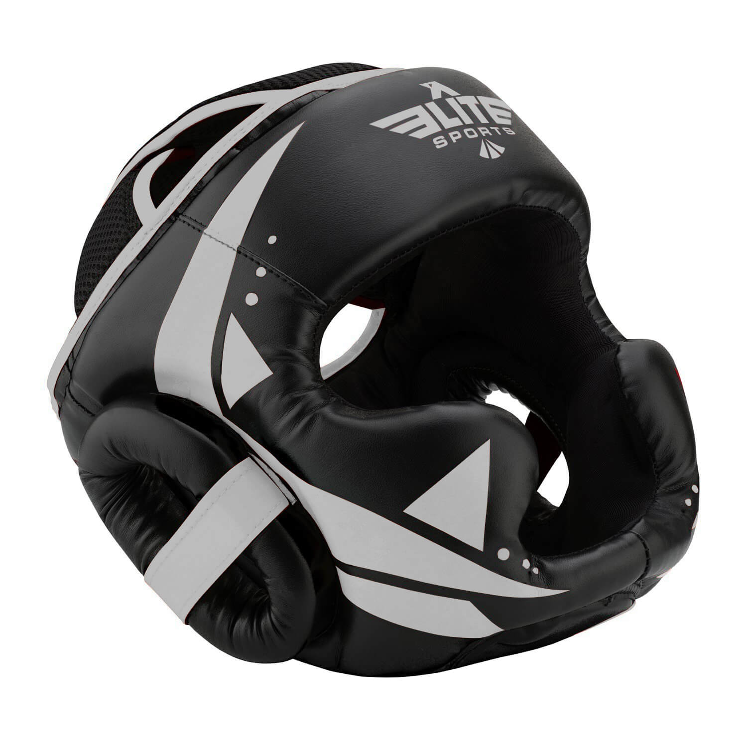 Load image into Gallery viewer, Elite Sports Star Series Sparring Black/Silver Muay Thai Headgear