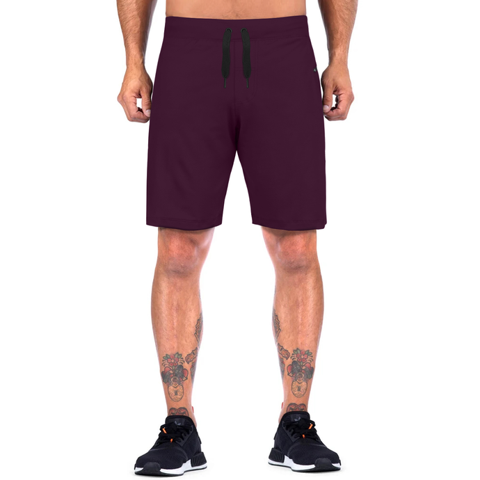 Elite Sports Mens Plain Magenta Crossfit Shorts