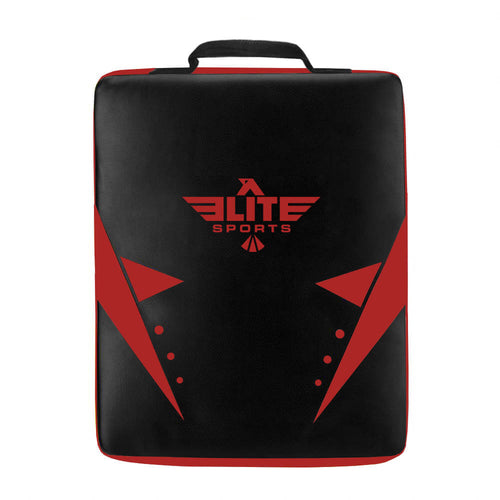 Elite Sports Black/Red Muay Thai Strike Shield Kick Pad
