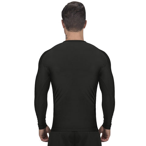 Elite Sports Standard Black Long Sleeve MMA Rash Guard