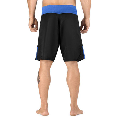 Elite Sports Black Jack Series Black/Blue Brazilian Jiu Jitsu BJJ No Gi Shorts