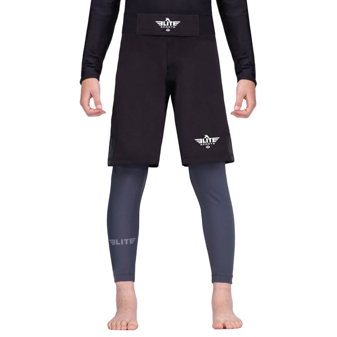 Elite Sports Jack Series Black Kids Bjj NO-GI Shorts