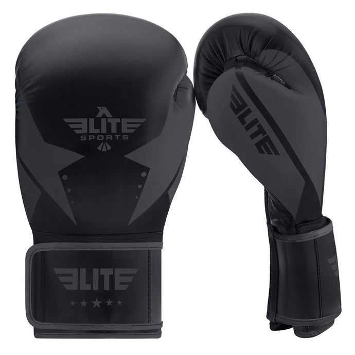 Elite Sports Star Series Black/Black Adult Boxing Gloves