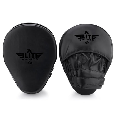 Elite Sports Essential Curved Black Training Punching Mitts
