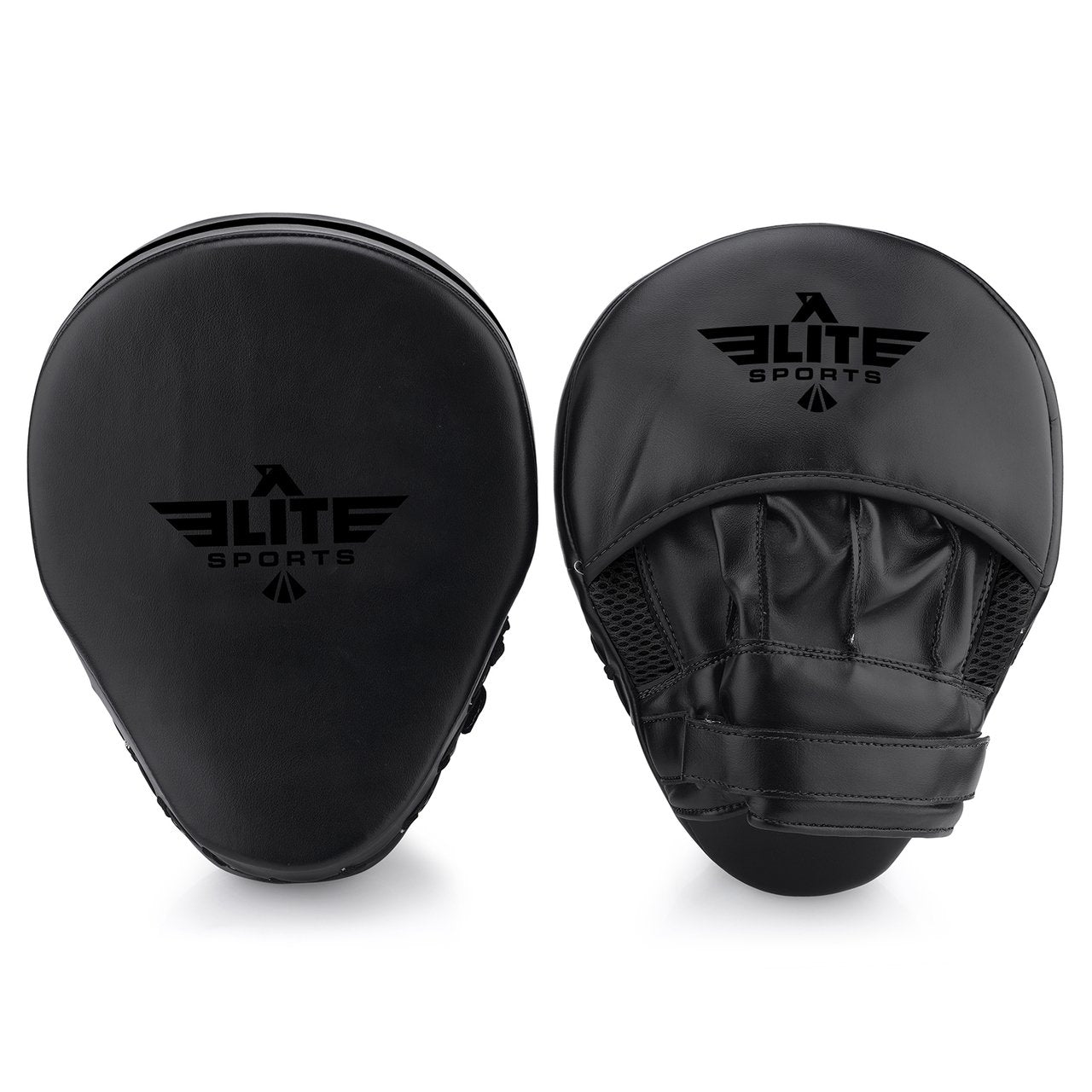 Elite Sports Essential Curved Black Karate Punching Mitts