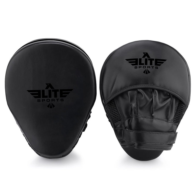 Elite Sports Essential Curved Black Muay Thai Punching Mitts