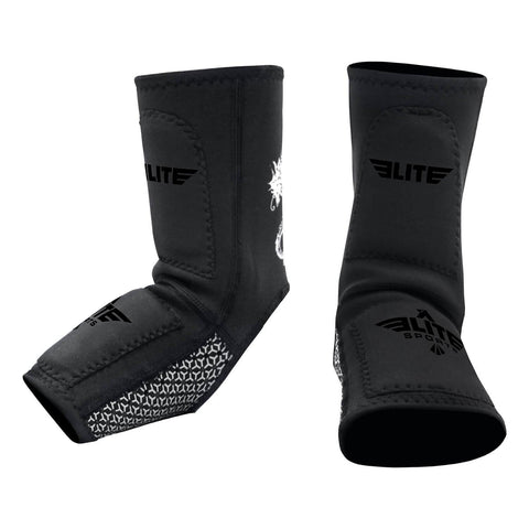 Elite Sports Black MMA Ankle Guards