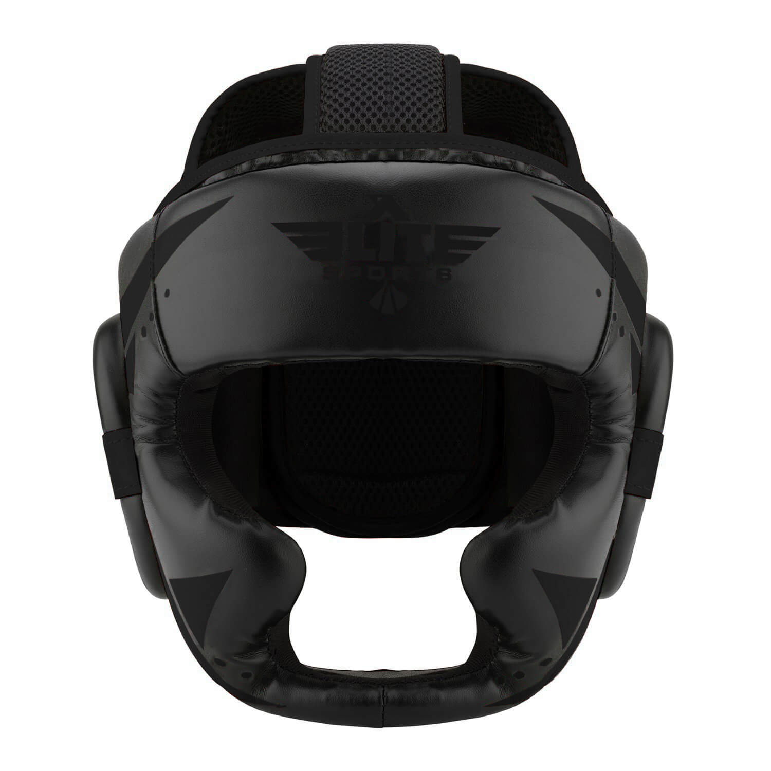 Load image into Gallery viewer, Elite Sports Star Series Sparring Black/Black Boxing Headgear