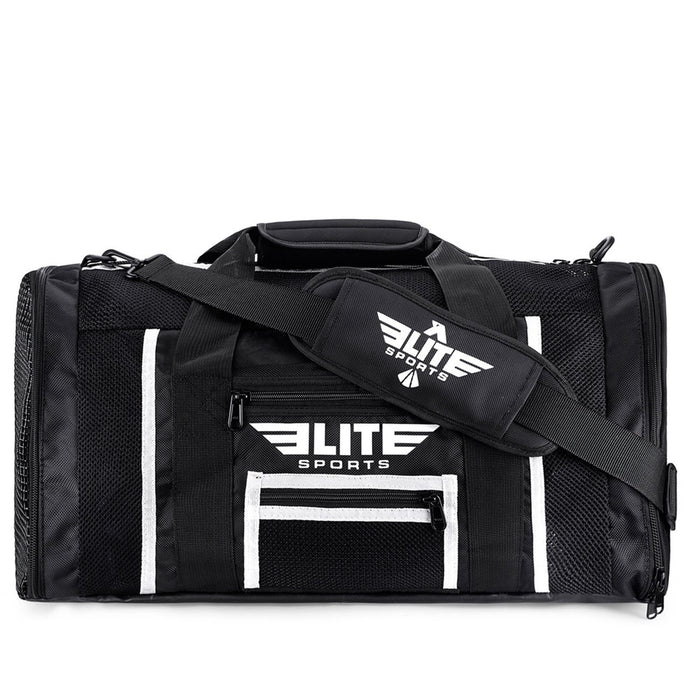 Elite Sports Mesh Black Large MMA Gear Gym Bag