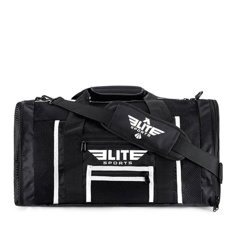 Elite Sports Mesh Black Medium Boxing Gear Gym Bag
