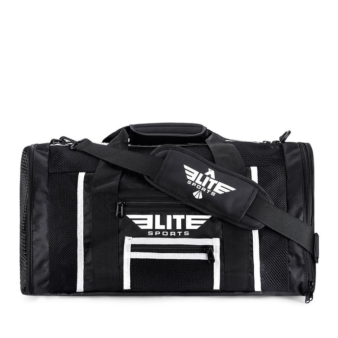 Elite Sports Mesh Black Medium Training Gear Gym Bag