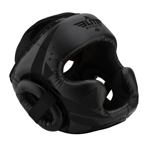 Elite Sports Star Series Sparring Black/Black Karate Headgear