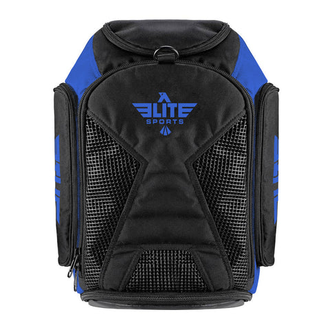 Elite Sports Athletic Convertible Blue Training Gear Gym Bag & Backpack