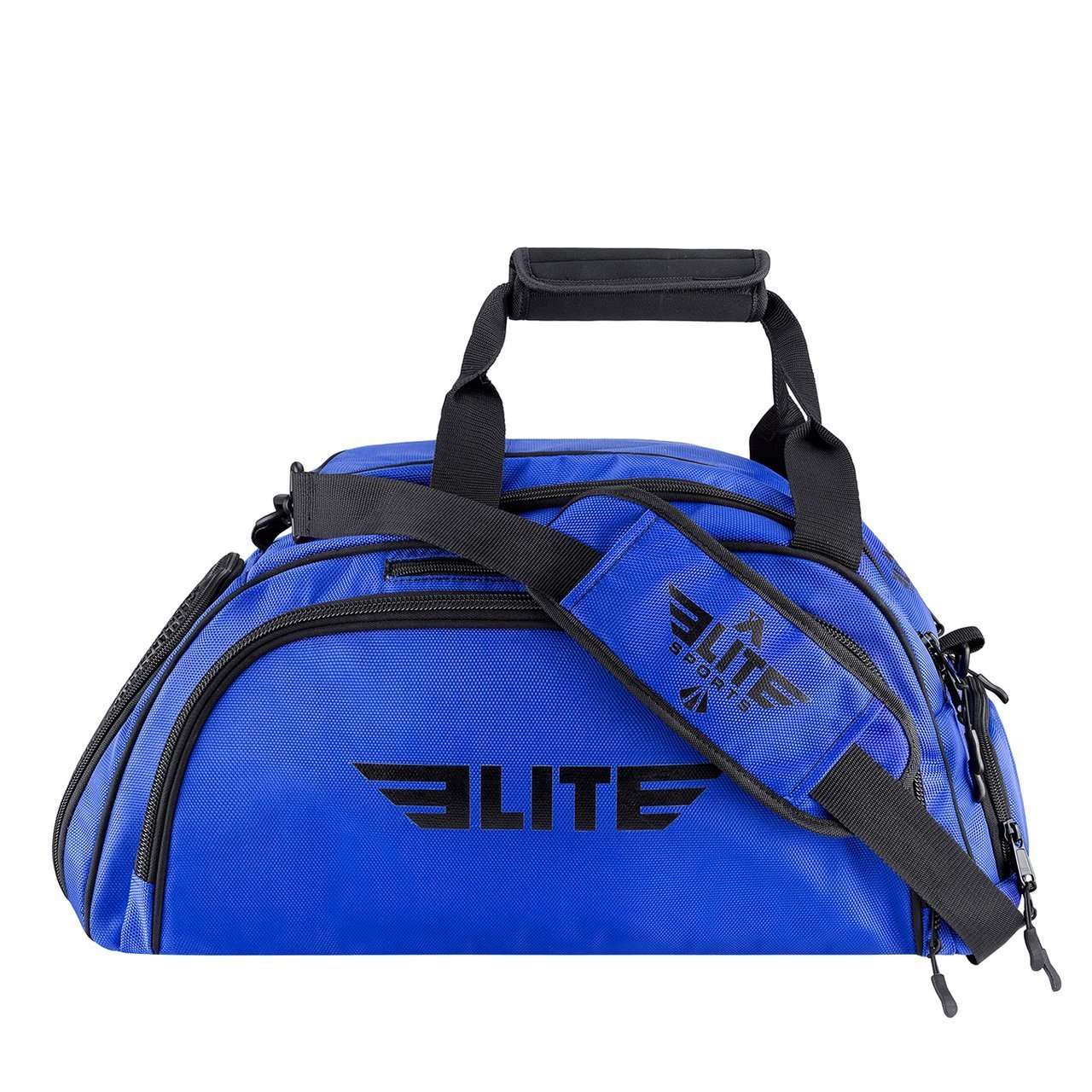Elite Sports Warrior Series Medium Blue Boxing MMA BJJ Gear Gym Duffel Bag & Backpack