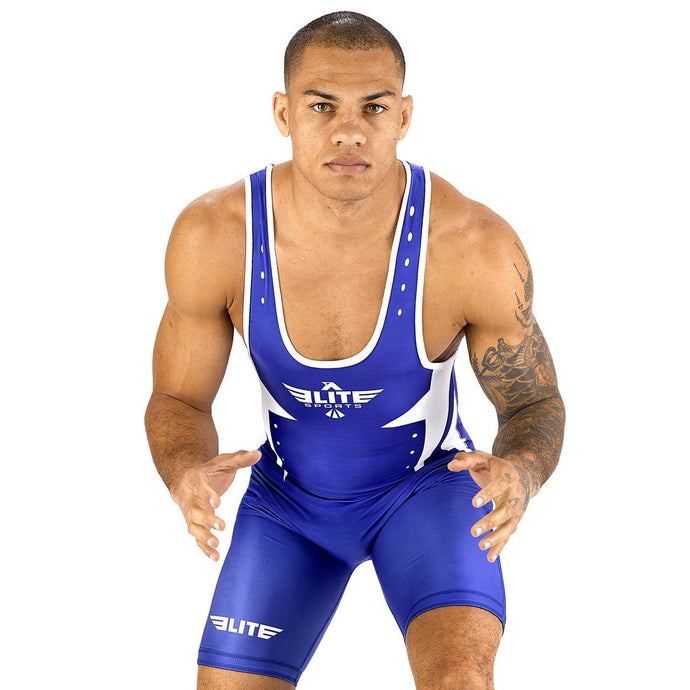 Elite Sports Star Series Blue Wrestling Singlets