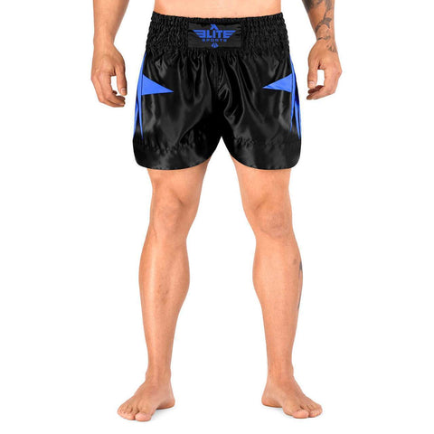 Elite Sports Star Series Sublimation Black/Blue Muay Thai Shorts