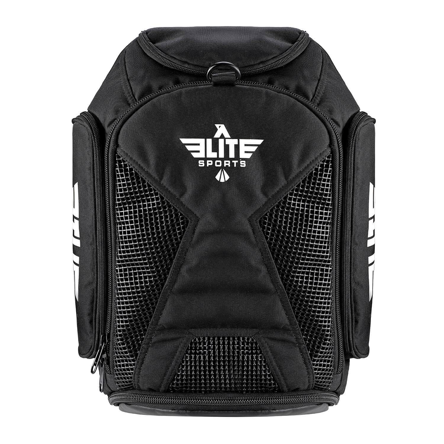 Elite Sports Athletic Convertible Black BJJ Gear Gym Bag & Backpack