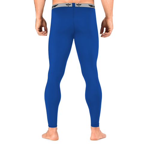Elite Sports Plain Blue Compression Judo Spat Pants