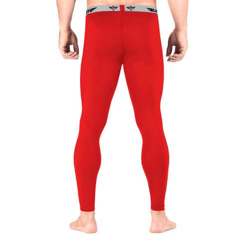 Elite Sports Plain Red Compression Judo Spat Pants