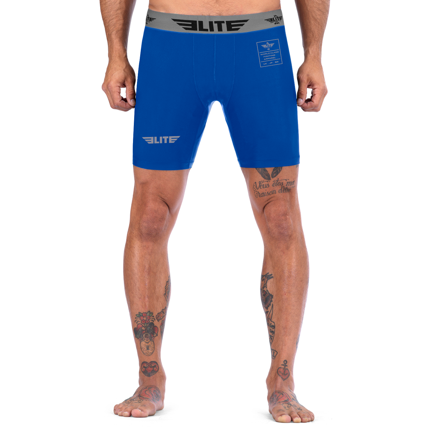 Elite Sports Blue Compression Muay Thai Shorts