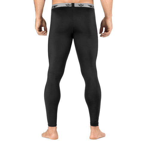 Elite Sports Plain Black Compression Wrestling Spat Pants