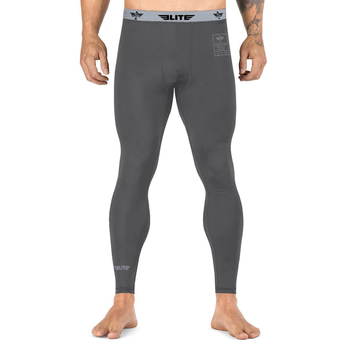 Elite Sports Plain Gray Compression Taekwondo Spat Pants