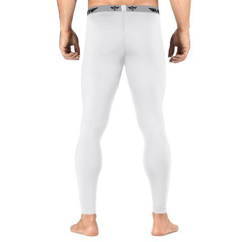 Elite Sports Plain White Compression Muay Thai Spat Pants