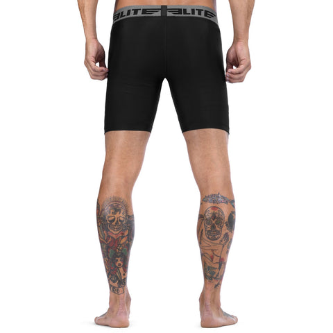 Elite Sports Black Compression Wrestling Shorts