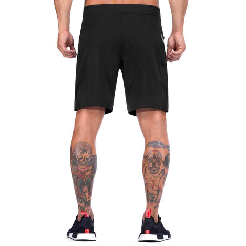 Elite Sports Mens Plain Black Crossfit Shorts