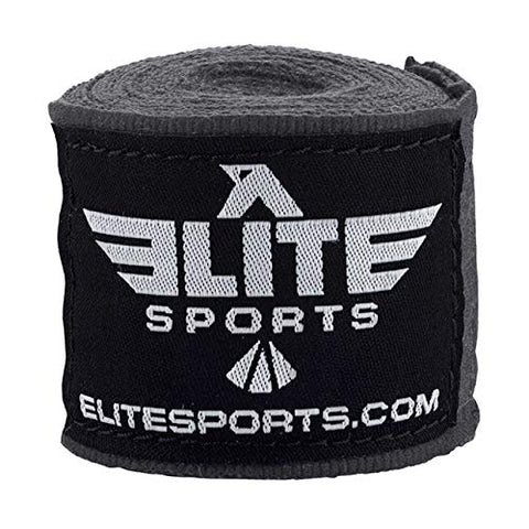 Elite Sports Gray Training Hand Wraps