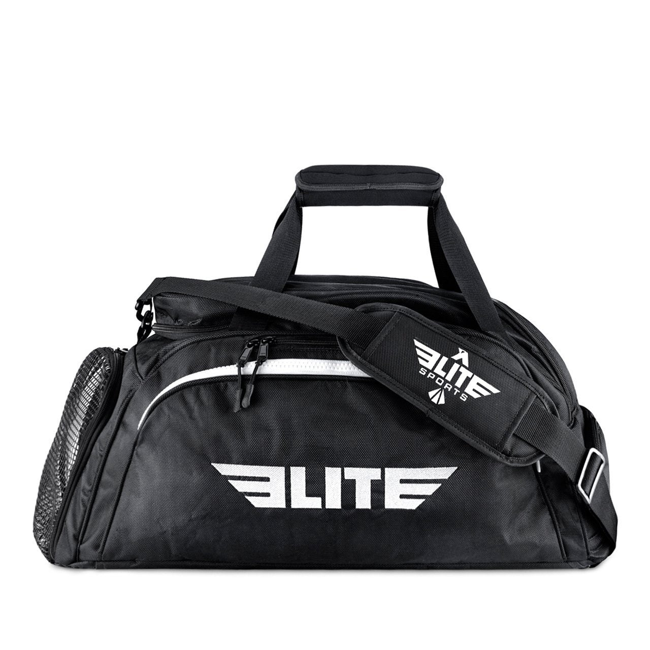 Elite Sports Warrior Series Black Medium Duffel Taekwondo Gear Gym Bag & Backpack