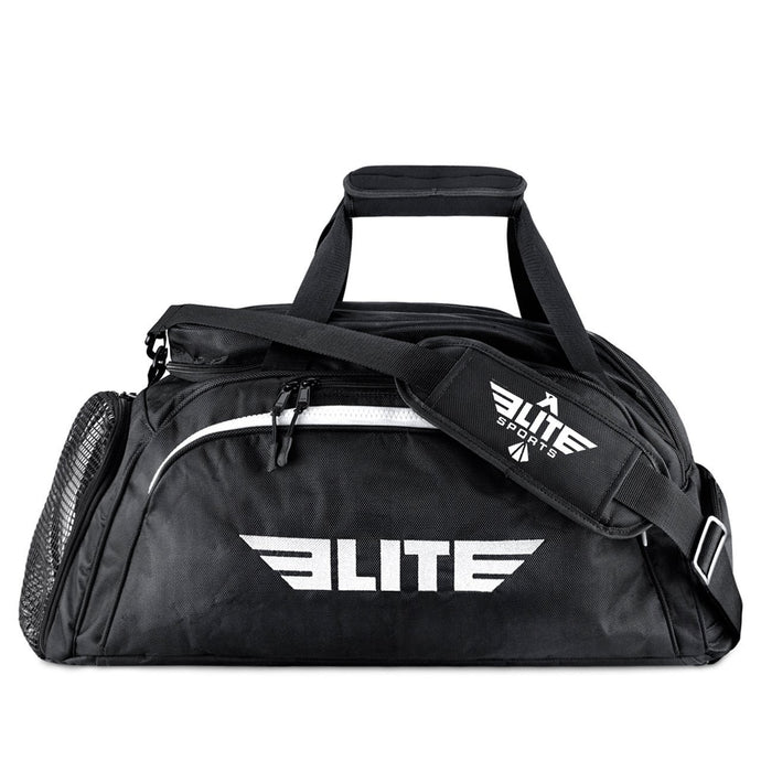 Elite Sports Warrior Series Black Large Duffel Muay Thai Gear Gym Bag & Backpack