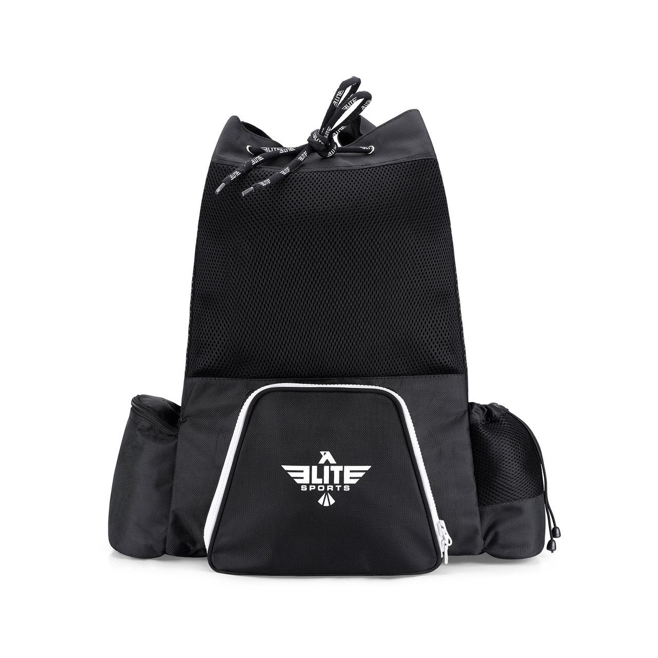 Elite Sports Mesh Black Medium MMA Gear Gym Bag & Backpack