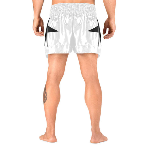 Elite Sports Star Series Sublimation White/Black Muay Thai Shorts