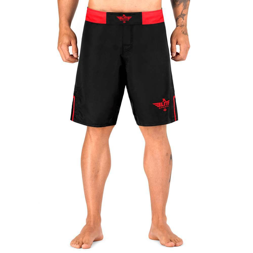 Elite Sports Black Jack Series Black/Red MMA Shorts