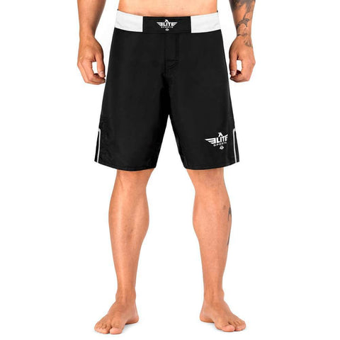 Elite Sports Black Jack Series Black/White MMA Shorts