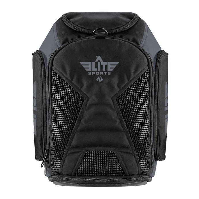 Elite Sports Athletic Convertible Gray Boxing Gear Gym Bag & Backpack