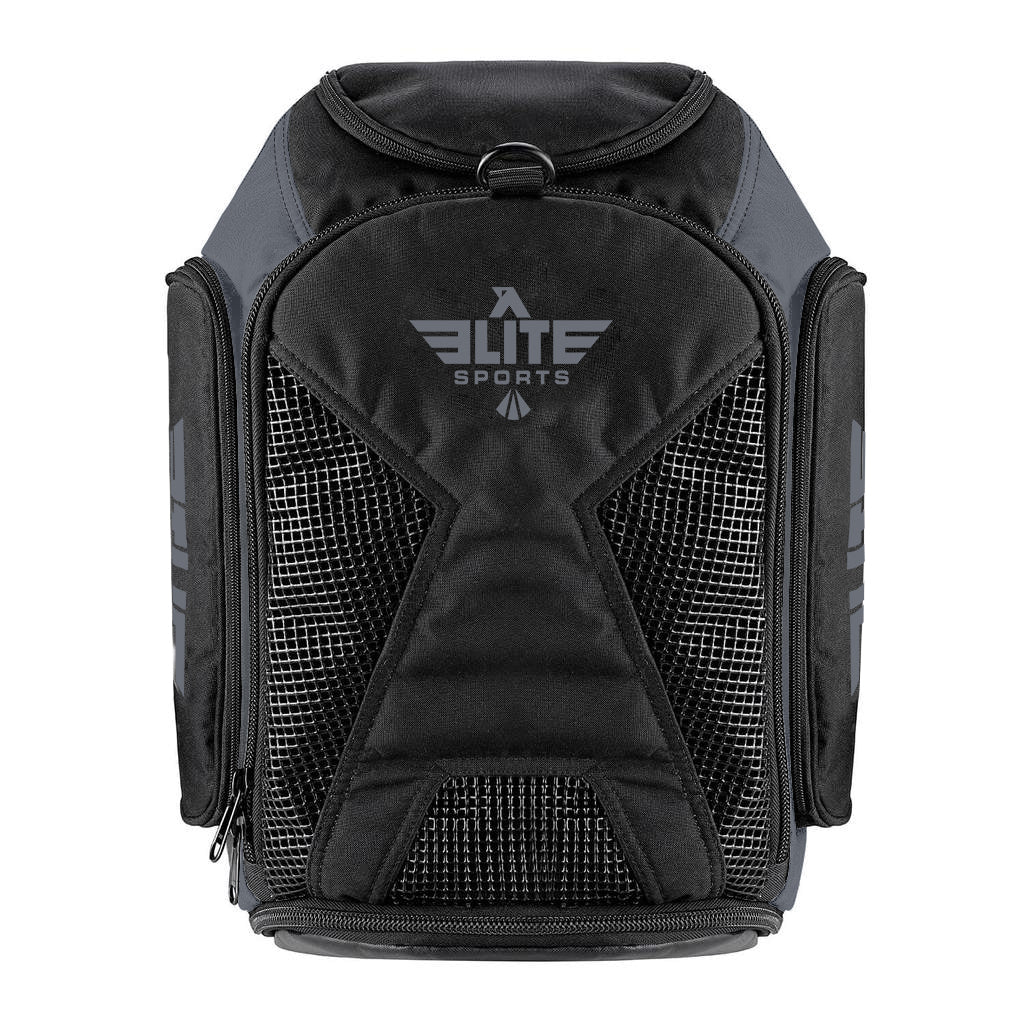 Elite Sports Athletic Convertible Gray BJJ Gear Gym Bag & Backpack