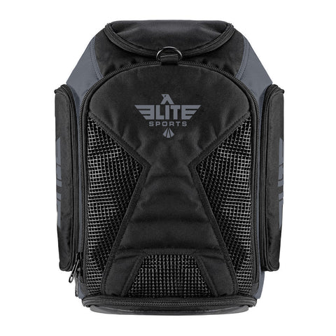 Elite Sports Athletic Convertible Gray Training Gear Gym Bag & Backpack