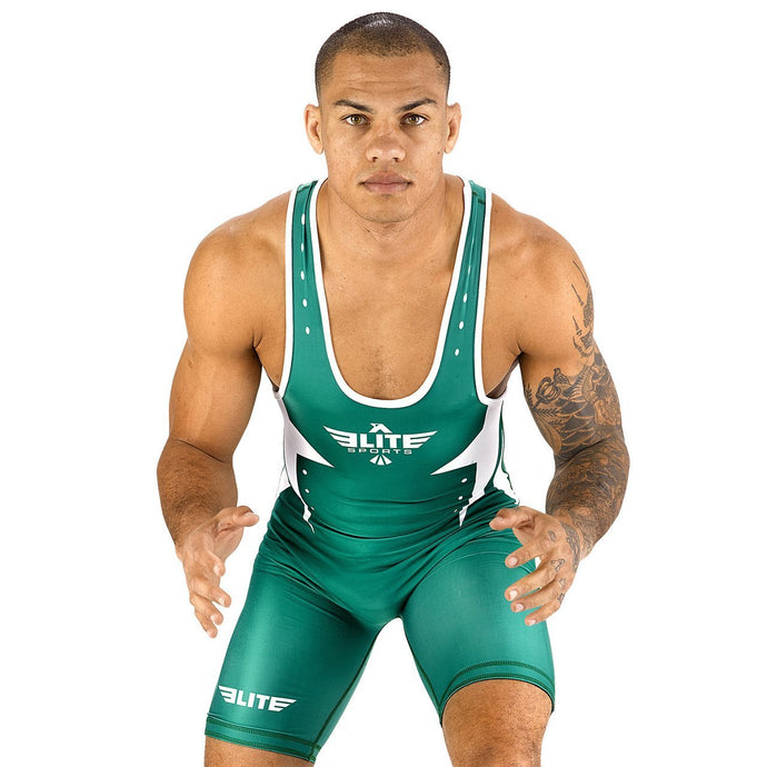 Elite Sports Star Series Green Wrestling Singlets