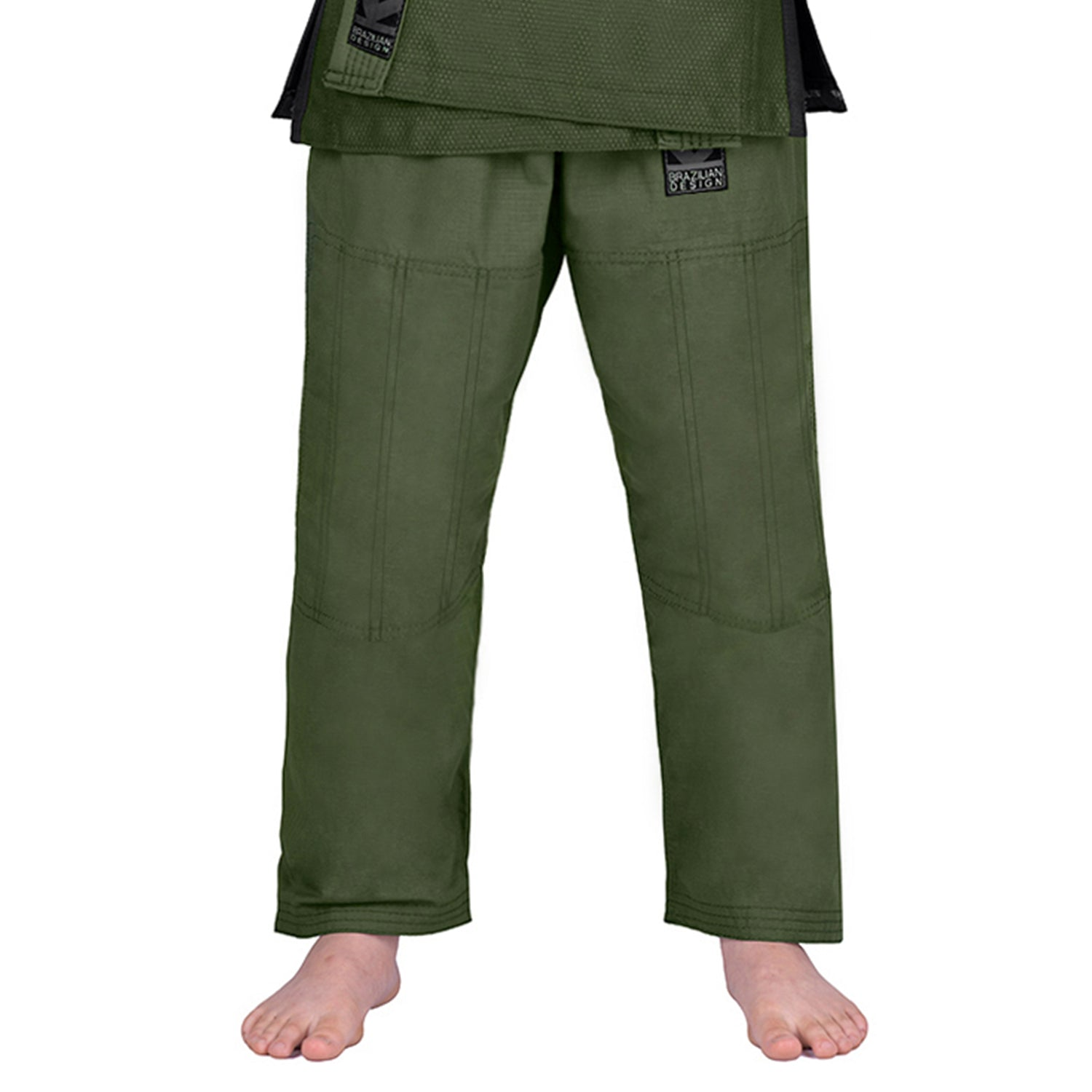 Elite Sports Military Green Kids Brazilian Jiu Jitsu BJJ Pant