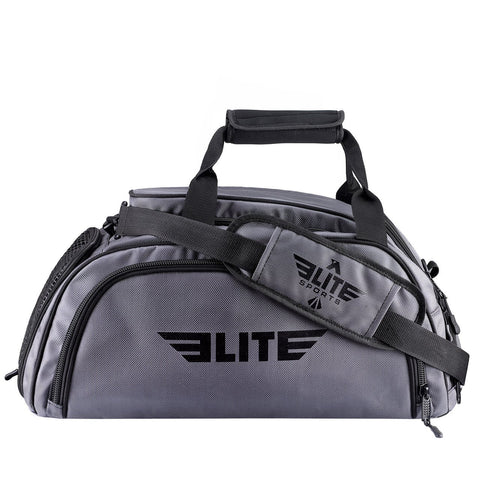 Elite Sports Warrior Series Gray Large Duffel Muay Thai Gear Gym Bag & Backpack