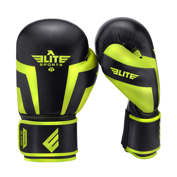 Elite Sports Standard Series Black/Hi Viz Kids Boxing Gloves