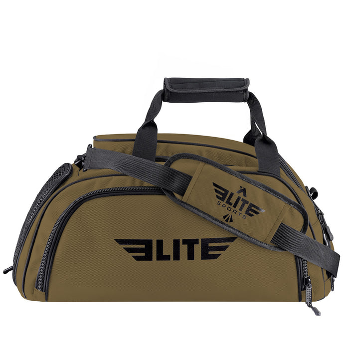 Elite Sports Warrior Series Khaki Large Duffel Training Gear Gym Bag & Backpack