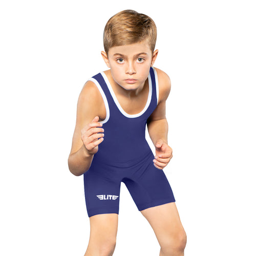 Elite Sports Standard Series Navy Kids Wrestling Singlets
