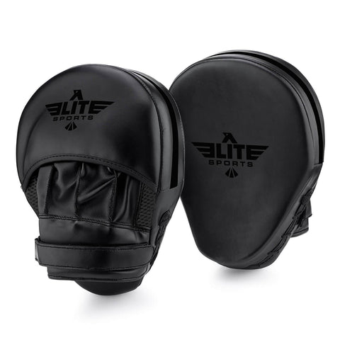 Elite Sports Essential Curved Black Boxing Punching Mitts