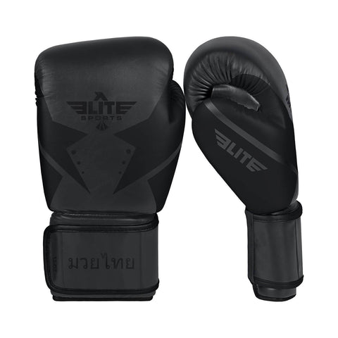 Elite Sports Star Series Black/Black Muay Thai Gloves