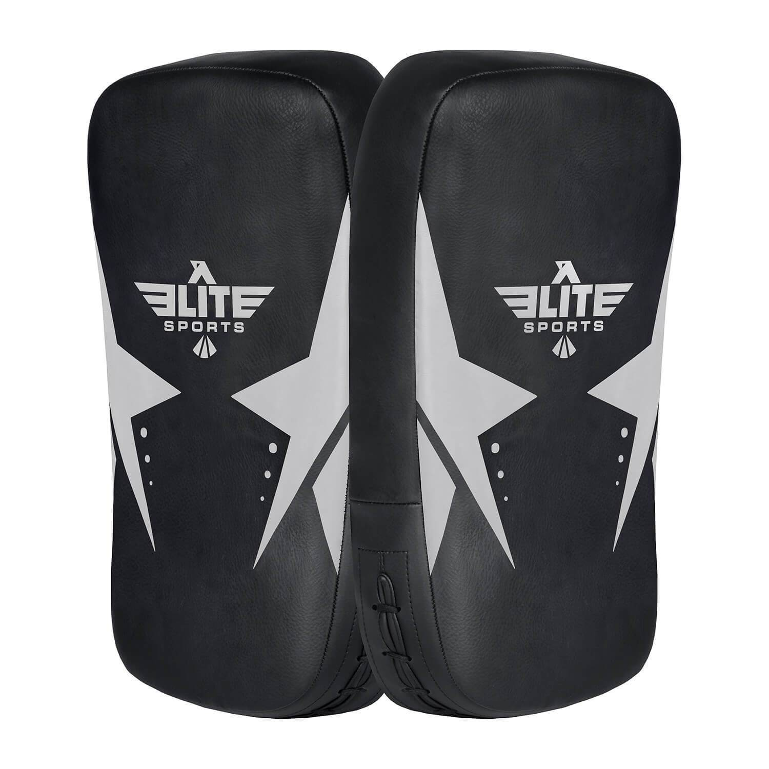 Elite Sports Black/Silver Muay thai Kick Pad