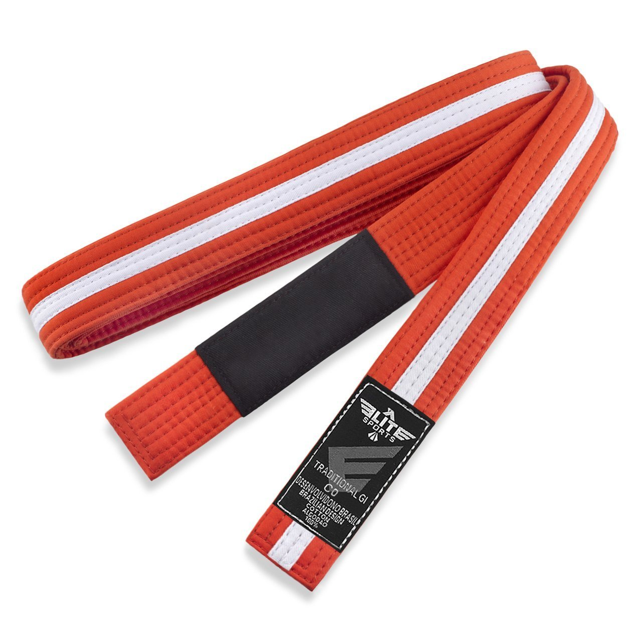 Elite Sports Kids Brazilian Jiu Jitsu BJJ Orange/White Belt