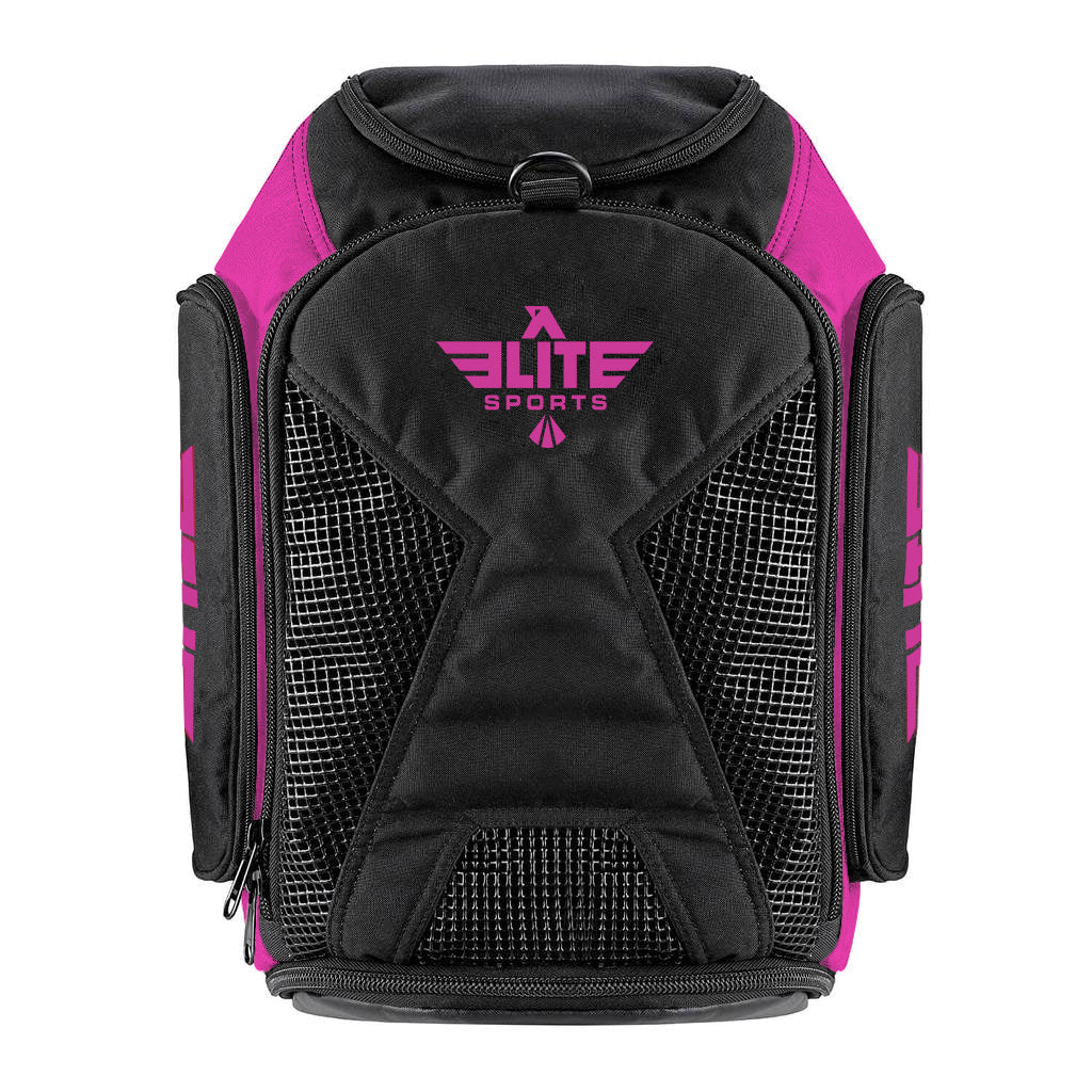 Elite Sports Athletic Convertible Pink Taekwondo Gear Gym Bag & Backpack